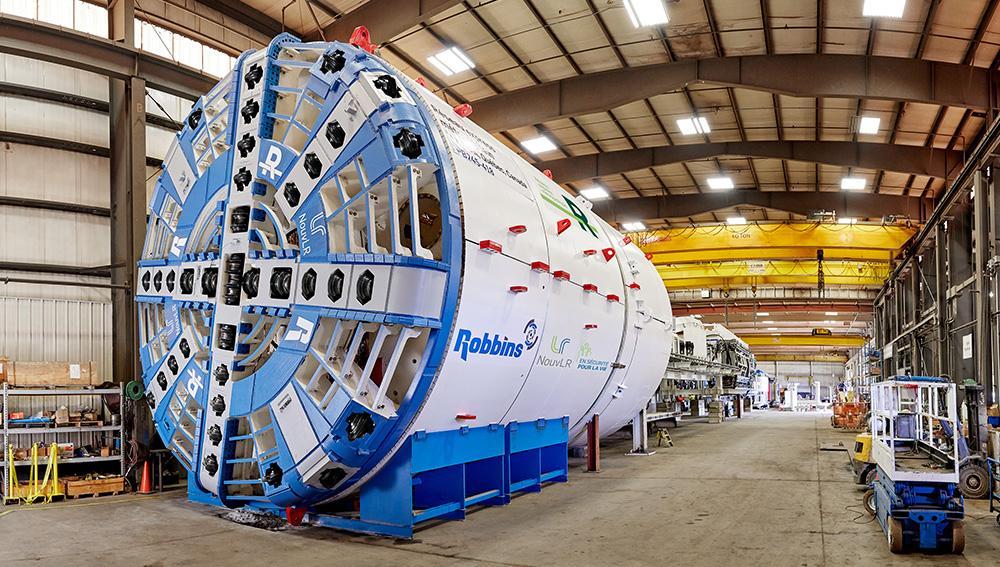 An unprecedented tunnel boring machine in Québec