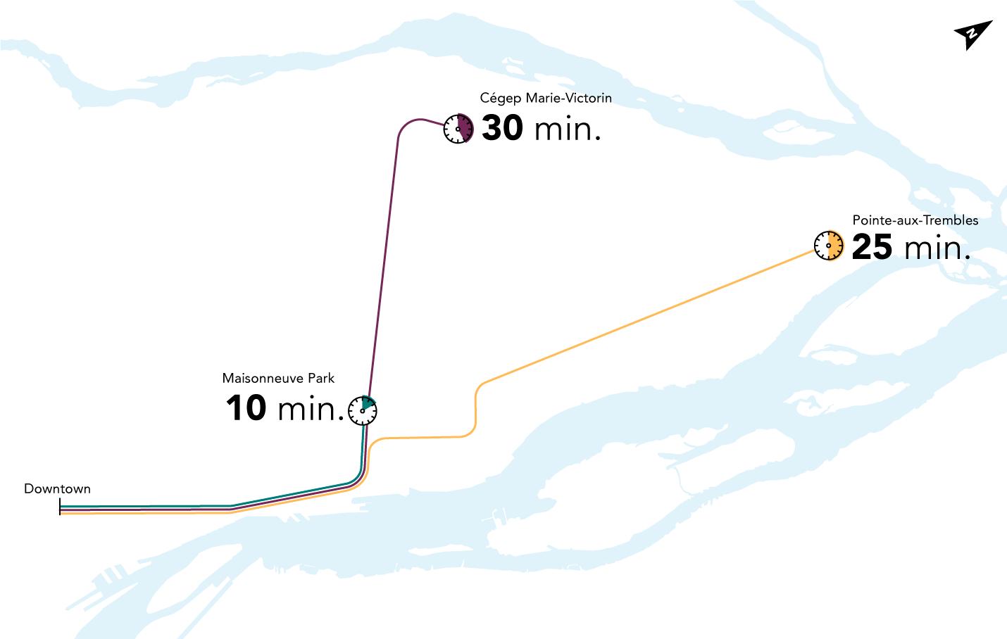 REM de l'Est time travel map
